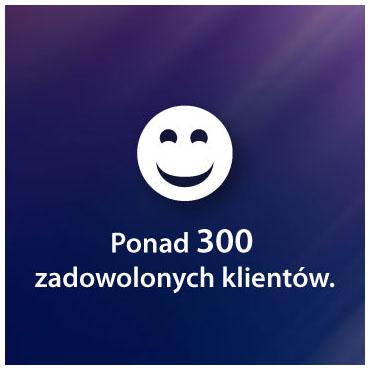 Ponad 300 zadowolonych klientów.