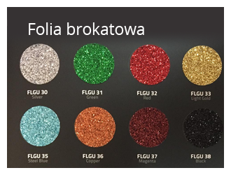 folia brokatowa